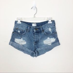 Amuse Society Crosswords Distressed Shorts